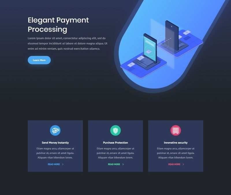 Página destino de pagos digitales